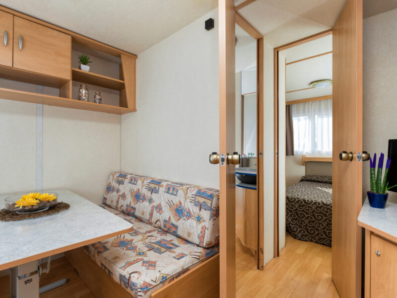 Caravan - internal room with bedroom